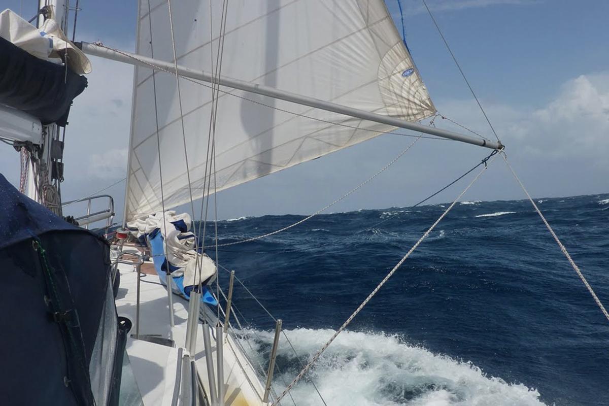 Velas de un velero